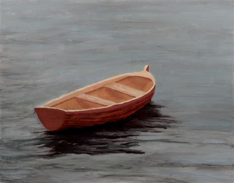 picture of a rowboat rowboat adrift rowboat adrift gouache on canvas 2010