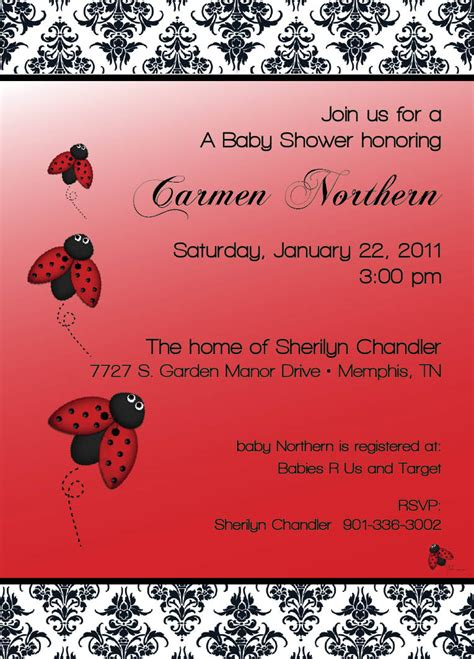 Template Ladybug Baby Shower Invitations Wording Ladybug Baby Shower Invitations Free Printable Ladybug Baby Shower Invitations Templates