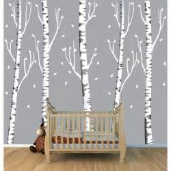 Birch Tree Wall Stickers Birch Tree Wall Decals For Children