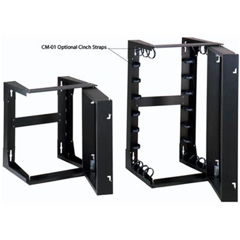 swing out rack wall mount open rack swing out rack cableorganizer com