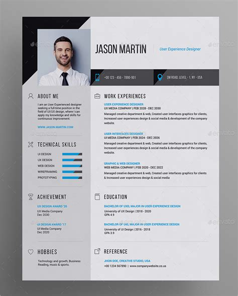 business resume template photoshop 41 resume templates exles professional modern free premium templates