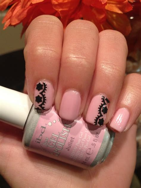 Ibd Nails by Ibd Gel Quot Juliet Quot Black Lace Nails Ibd Nails