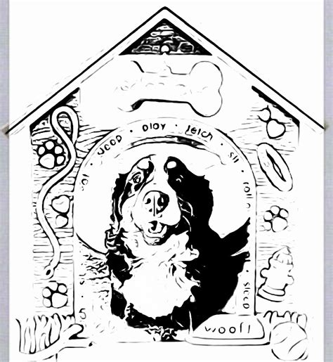 coloring pages of bernese mountain dogs coloring book servicesprivate in home