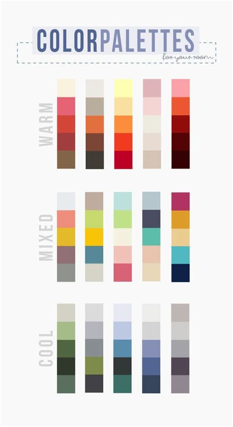 Kaos Ace Cafe there are three basic types of palettes warm mixed and