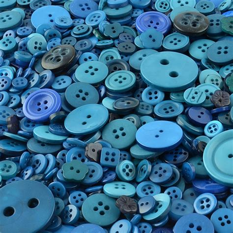 Proll 1kg blue buttons for crafting