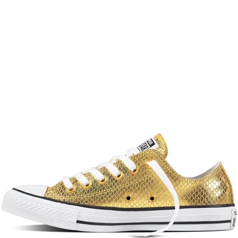 converse chuck all low top sneaker converse chuck all metallic leather low top
