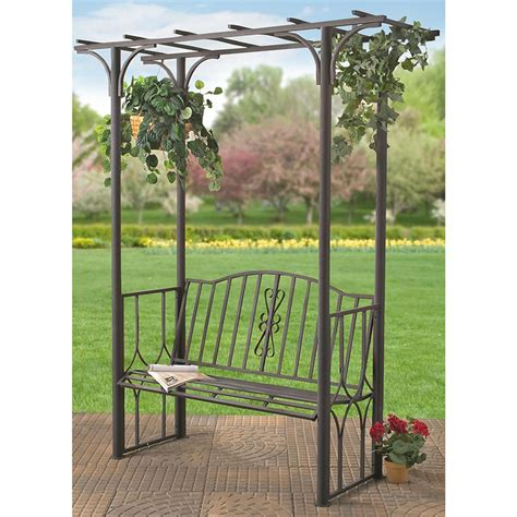 bench with arbor backyard arbor with bench 174113 gazebos at sportsman s guide