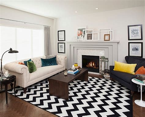 Chevron Pattern Room Ideas | chevron pattern ideas for living rooms rugs drapes and