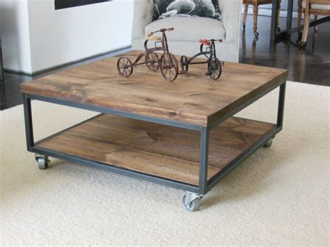 square industrial modern coffee table
