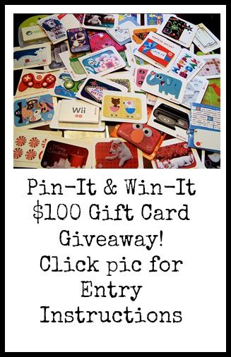 Live Gift Card Giveaway - pin it win it 100 gift card giveaway debt free spending