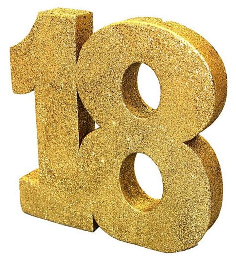 Birthday Decorations At Home Photos gold glitter number 18 table decoration 20cm party packs
