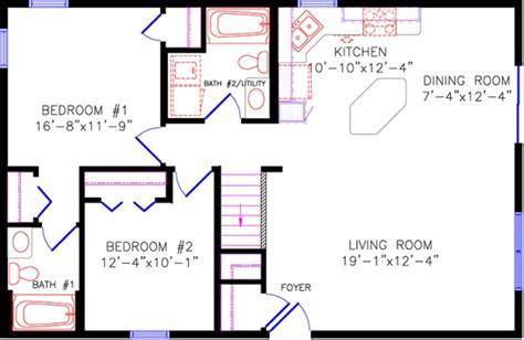 30x40 House Floor Plans by Floor Plans 4