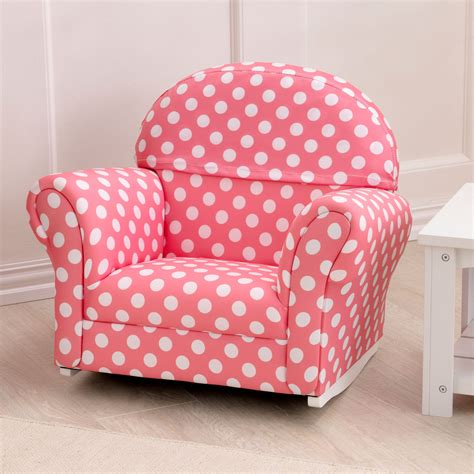 Toddler Chair by Kidkraft Upholstered Pink With Polka Dots Rocker 18686