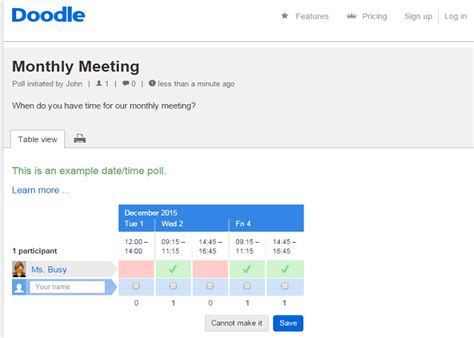doodle scheduler meeting 5 best meeting scheduler tools apps softwares