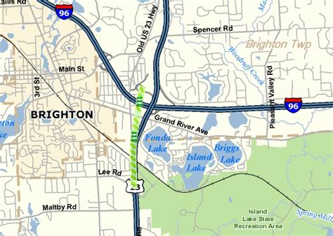 mdot interactive map closures planned as mdot removes u s 23 traffic shift
