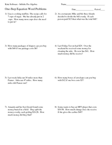 Two Step Problems Worksheet by Two Step Equations Word Problems Worksheet Worksheets