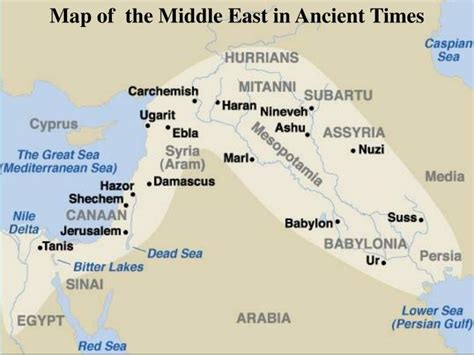 middle east map bible times ppt chapter 3 powerpoint presentation id 986435