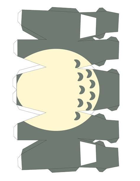 Paper Craft Photos - varietats totoro papercraft template