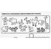 Cruzadinha Educativa Com O Nome Dos Animais  Desenhos