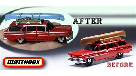 matchbox chevy detailing matchbox 1959 chevy brookwood wagon fun diy