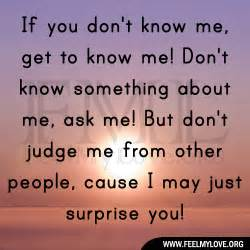 If you don t know me get to know me don t know something about