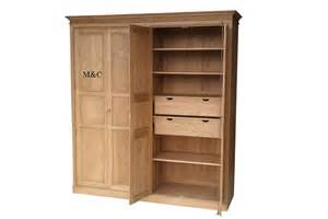 armoire dressing 4 portes pin massif