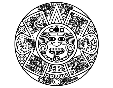 Calendario Azteca Png Dibujo De Calendario Azteca Para Colorear Dibujos Net