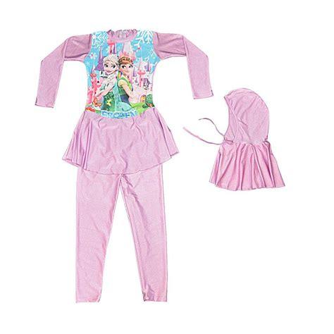 Baby Set Ungu jual baby motif frozen snow baju renang anak muslim