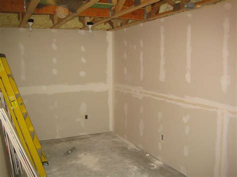 drywall in basement sheetrock up hill house