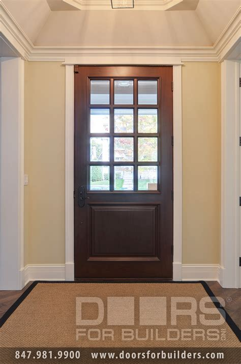 Classic French Solid Wood Front Entry Door Clear Beveled Beveled Glass Front Door