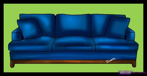 drawn couch how to draw a couch step by step stuff pop culture