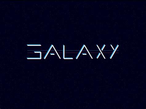 effect logo design galaxy logo subtle glitch effect by arthur finkler