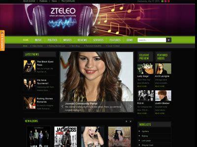 template joomla radio station free zt eleo joomla online music portal radio station template