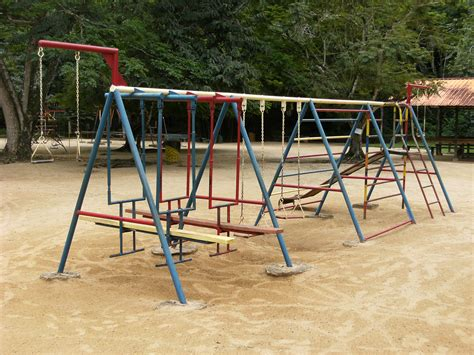 pictures of swings file playground swings in paramaribo zoo jpg wikimedia