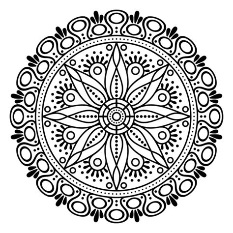 mandala coloring pages vector mandala outline empty vector free
