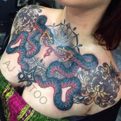 tattoo parlour fremantle epic female snake chest piece tattoo by aaron ashworth at