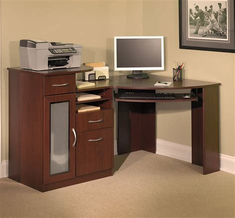 Impressive Computer Corner Desk Application Atzine Com Corner Armoire Computer Desk