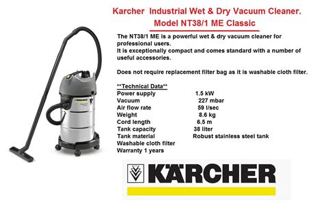 Vacuum Cleaner Karcher Nt 20 1 Me Classic Professional steam vacuum cleaner karcher cleaning products commercial