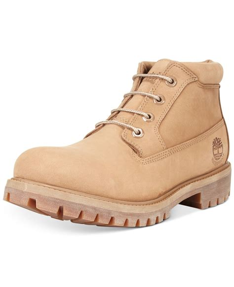 Timberland Tbl14479jsb07 Beige Brown Leather timberland s nelson chukka boots in beige for save 26 lyst