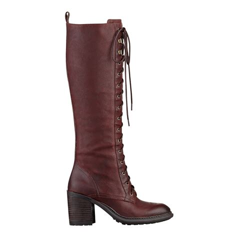 nine west leather boots nine west lory boot in brown wine leather lyst