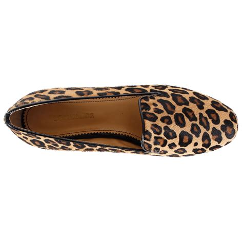 leopard print flat shoes dsquared2 leopard print ponyskin flat shoes spence