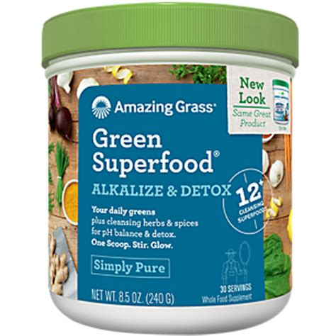 Superfood Detox by Green Superfood Alkalize Detox 8 5 Ounces Powder By