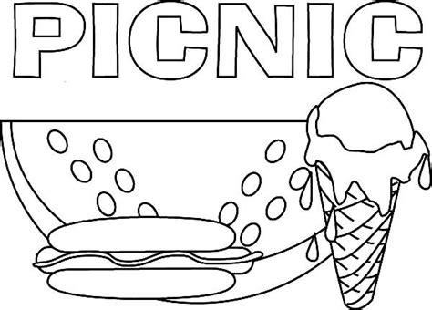 picnic coloring pages preschool picnic coloring pages preschool coloring page