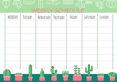 weekly planner template postermywall