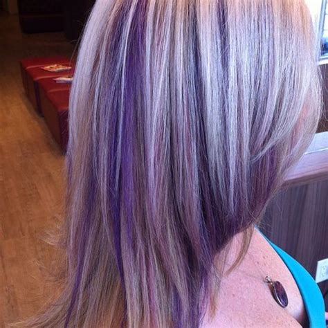puple with blonde highlights purple highlights yes this is what i shall do since the