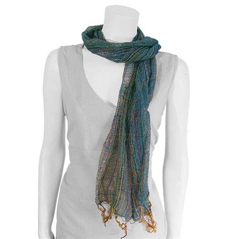 indian weave scarf sarong handmade fair trade from