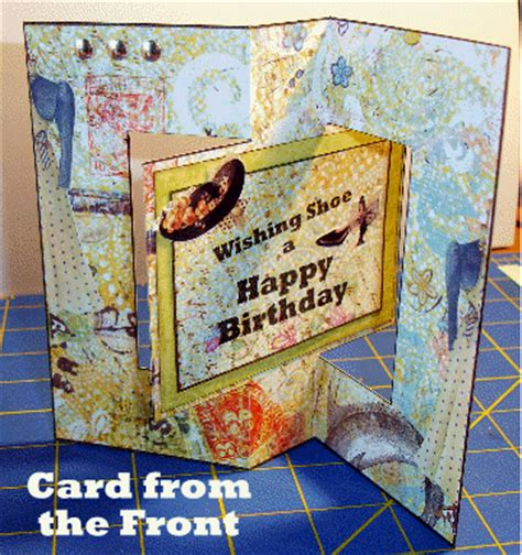 how to make a swing card lucine s swing cards and venetian blind card