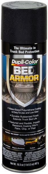 duplicolor bed armor spray dupli color bed armor truck bed liner spray 16 5 oz