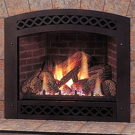 32 quot direct vent fireplace with liner facing and