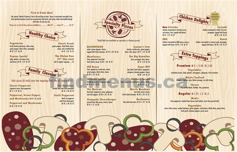 Pantry Pizza Menu by Jeannes Pizza Pantry Menu 2015 2 Calgary Find Menus Ca